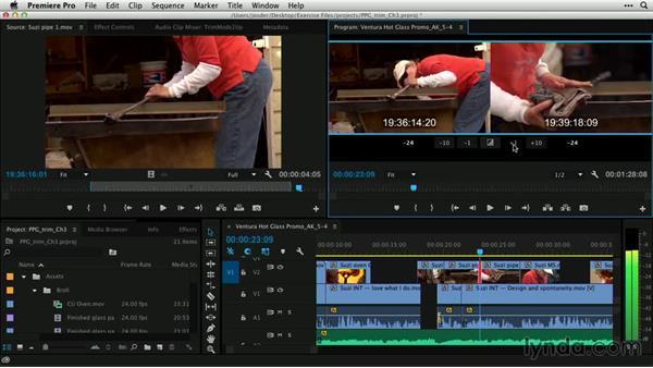 Trim Edit mode in action: Premiere Pro Guru: Professional Trimming