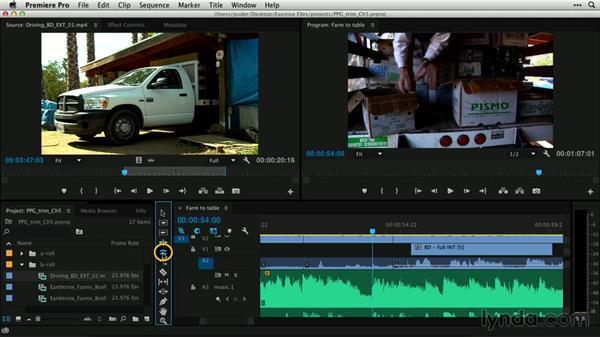 Utilizing audio waveforms: Premiere Pro Guru: Professional Trimming