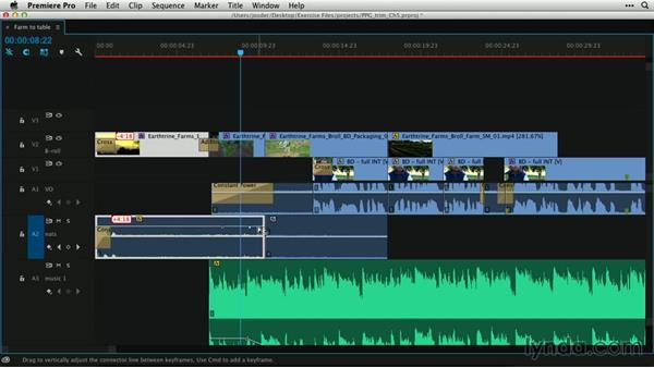 Trimming and mixing: Premiere Pro Guru: Professional Trimming