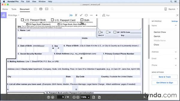 Filling forms: Adobe Document Cloud First Look