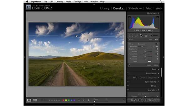 Using the Graduated Filter tool: Lightroom 2 Essential Training