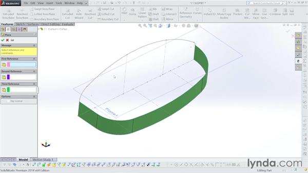 Planes for surfaces: Surfacing with SOLIDWORKS
