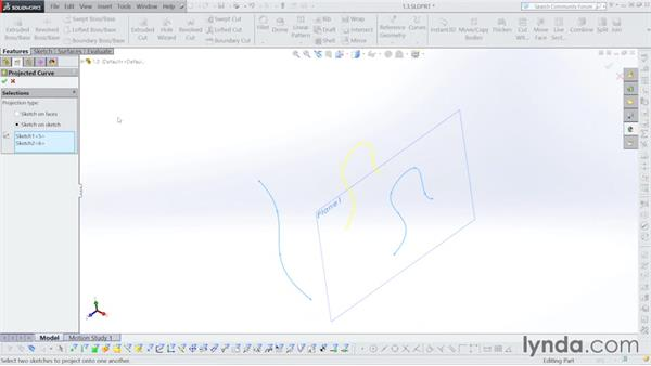 3D curve creation: Surfacing with SOLIDWORKS