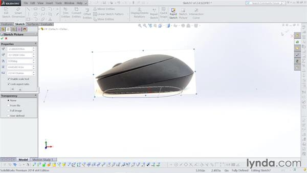 Building a lofted surface: Surfacing with SOLIDWORKS