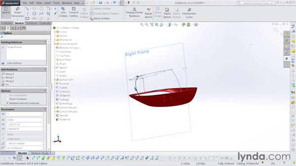 Boundary surface creation: Surfacing with SOLIDWORKS