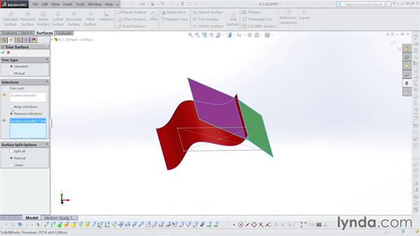 Using the Up to Surface command: Surfacing with SOLIDWORKS