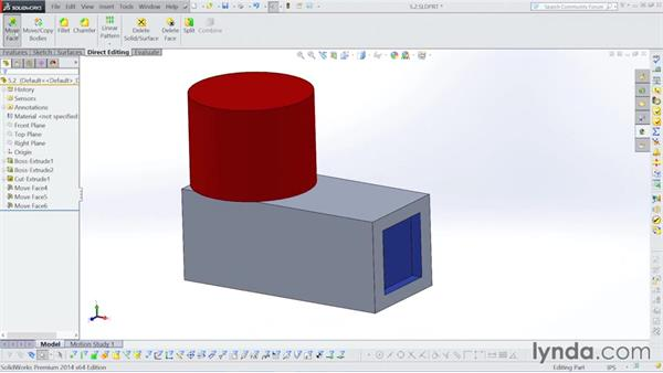 Moving faces: Surfacing with SOLIDWORKS