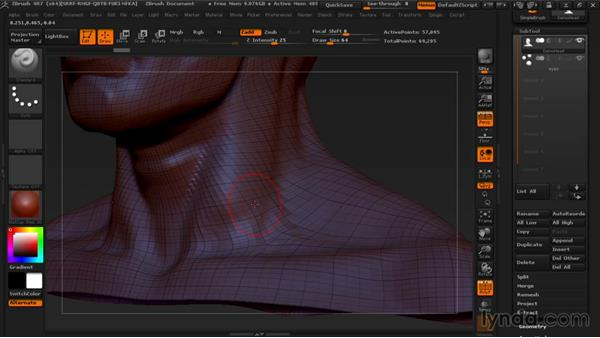 Setting up your model for retopology: Managing Edge Flow in ZBrush