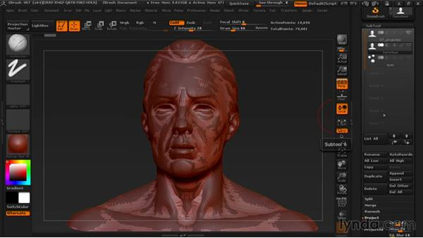 Projecting the original sculpture's detail onto the retopologized model: Managing Edge Flow in ZBrush