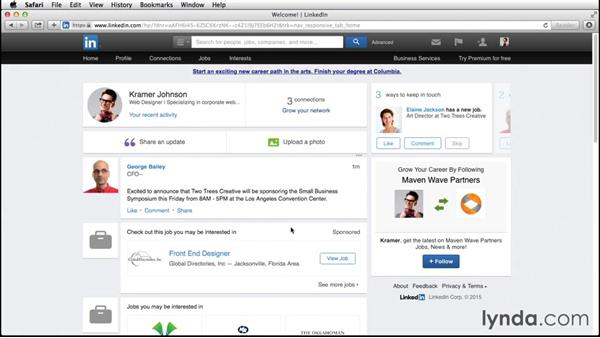 Networking with other LinkedIn users: Up and Running with LinkedIn