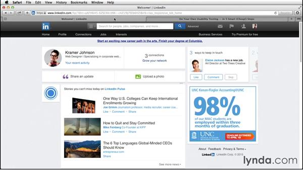 Sharing content to LinkedIn from around the web: Up and Running with LinkedIn