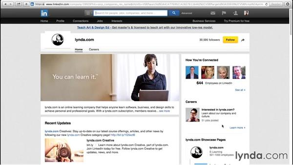 Following companies and influencers on LinkedIn: Up and Running with LinkedIn