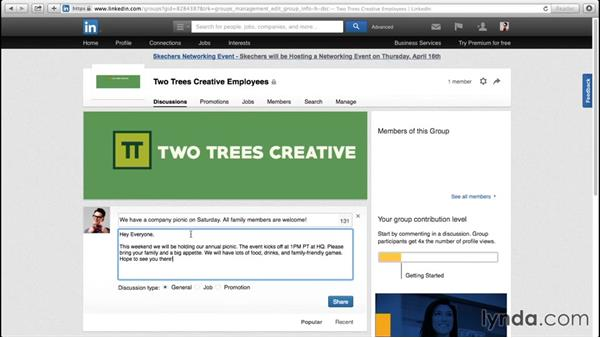Participating in LinkedIn groups: Up and Running with LinkedIn