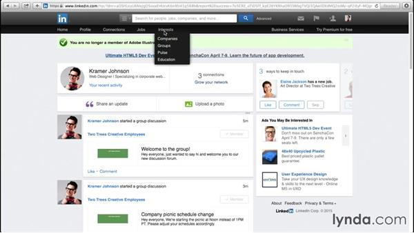 Leaving and deleting groups: Up and Running with LinkedIn