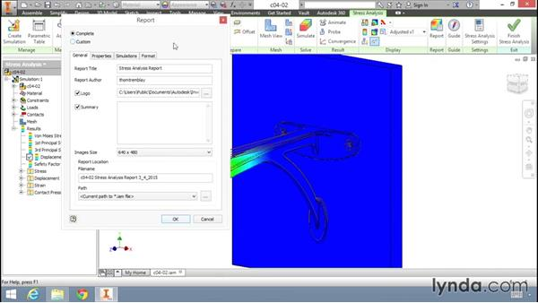 Animating results: Fundamentals of Stress Analysis Tools in Inventor Professional