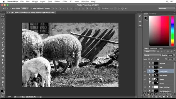 Solution: Editing a color image for a black and white conversion: From Screen to Paper: Improving Your Inkjet Printing Skills