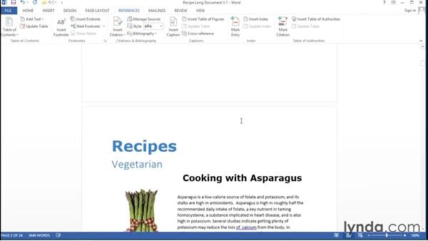 Creating a table of contents: Migrating from Google Apps to Office 2013