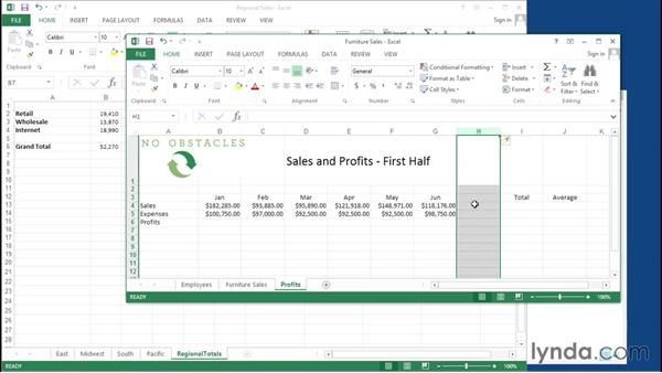 Working across multiple sheets and documents: Migrating from Google Apps to Office 2013
