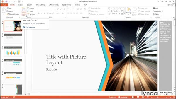 Creating a presentation and working with themes: Migrating from Google Apps to Office 2013