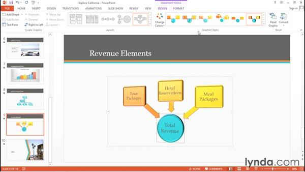 Inserting graphs and SmartArt: Migrating from Google Apps to Office 2013