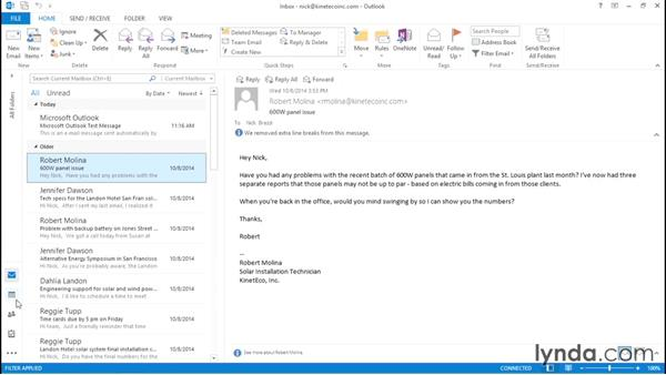 Touring the Outlook interface: Migrating from Google Apps to Office 2013