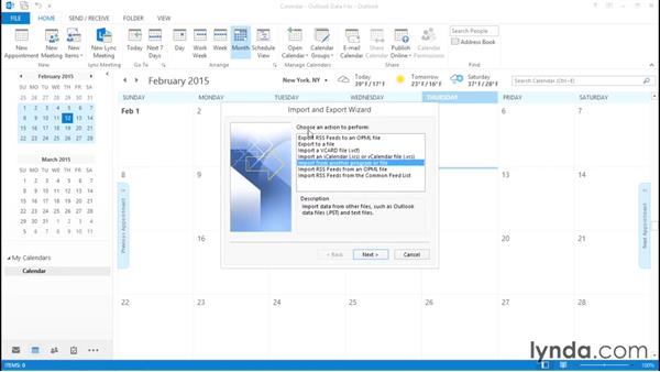 Importing calendars from a standard Google account: Migrating from Google Apps to Office 2013