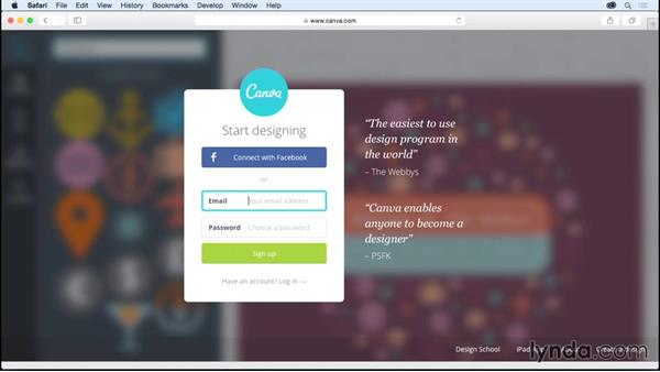 Creating your Canva account: Up and Running with Canva