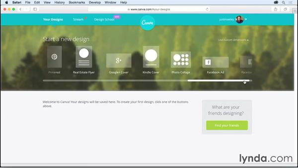 Starting your first project: Up and Running with Canva