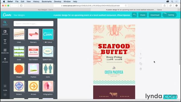 Working with text elements: Up and Running with Canva