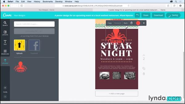 Uploading your own graphics: Up and Running with Canva