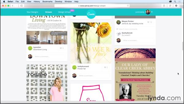 Finding inspiration in the Canva stream: Up and Running with Canva