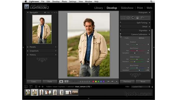 Creative color with Camera Calibration: Lightroom 2 Essential Training