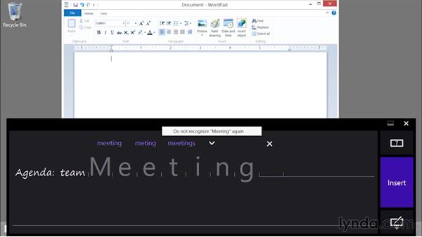 Using the handwriting panel: Up and Running with Surface 3 and Surface Pro 3