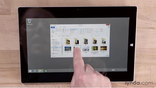 Using desktop applications with touch controls: Up and Running with Surface 3 and Surface Pro 3