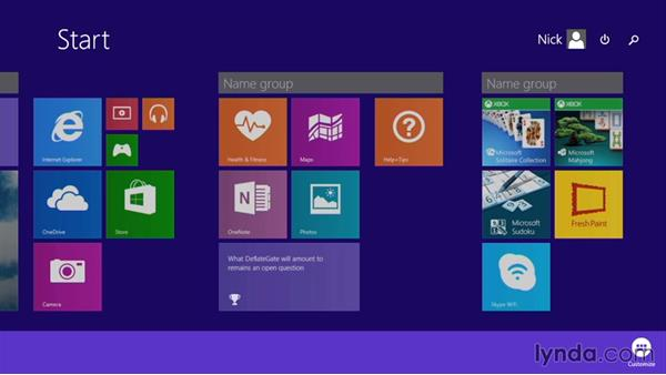 Working with tiles and pinning apps to the Start screen: Up and Running with Surface 3 and Surface Pro 3