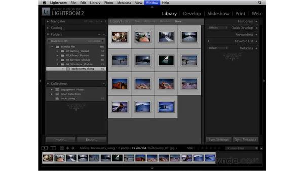 Using Slideshow templates: Lightroom 2 Essential Training