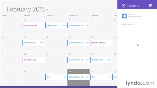 Using the calendar: Up and Running with Surface 3 and Surface Pro 3