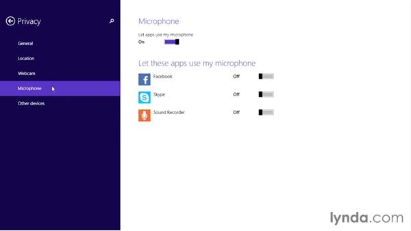 Setting app privacy and permissions: Up and Running with Surface 3 and Surface Pro 3