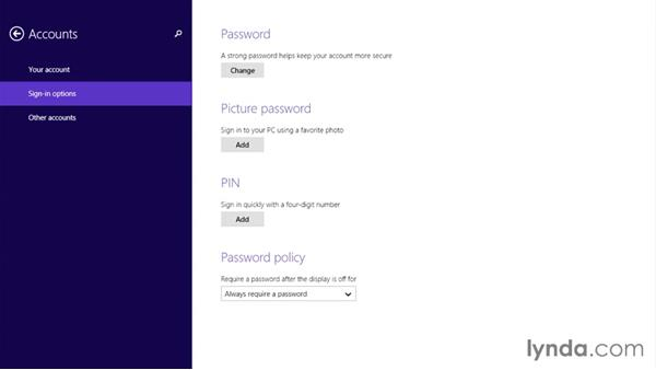 Setting a PIN code for fast login: Up and Running with Surface 3 and Surface Pro 3