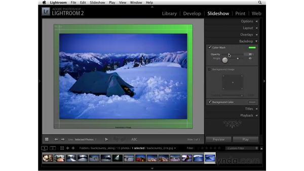 Customizing the background: Lightroom 2 Essential Training