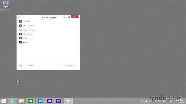 Accessing the Task Manager, Quick Link menu, and Control-Alt-Delete: Up and Running with Surface 3 and Surface Pro 3