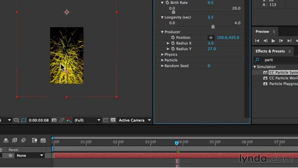 Setting the physics properties of the particles: Creating an Animated Steam Sprite Sheet with After Effects