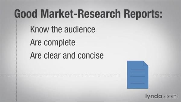 Preparing the market research report