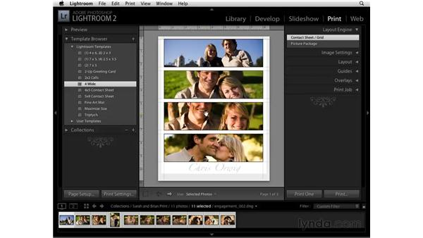 Using Print templates: Lightroom 2 Essential Training
