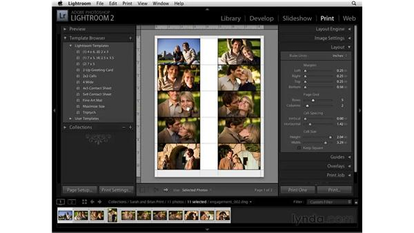 Customizing images settings and layout: Lightroom 2 Essential Training