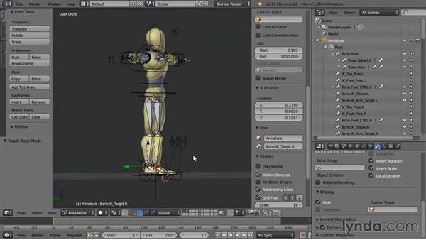 Using the exercise files: Rigging a Humanoid Character with Blender