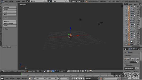 Importing the mesh and setup of the scene environment: Rigging a Humanoid Character with Blender