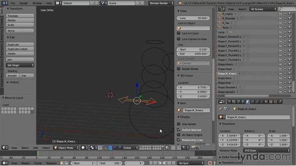 Creating custom controller shapes: Rigging a Humanoid Character with Blender