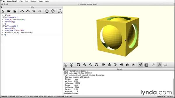 Welcome: Creating a Captive Sphere with OpenSCAD