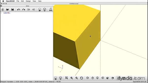 Making the initial cube: Creating a Captive Sphere with OpenSCAD